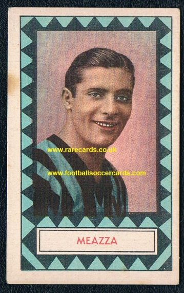 1934 Abissinia trade card Meazza Inter